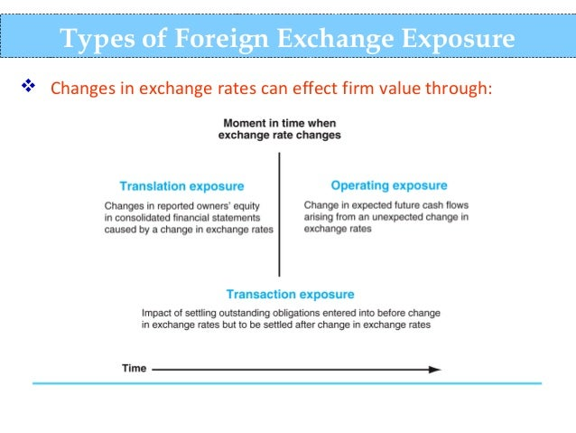 management of exchange rate risk exposure
