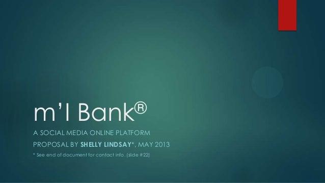 m'I Bank social media platform