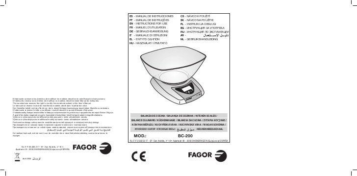 Mi bc 200 - 15 id - Servicio Tecnico Fagor