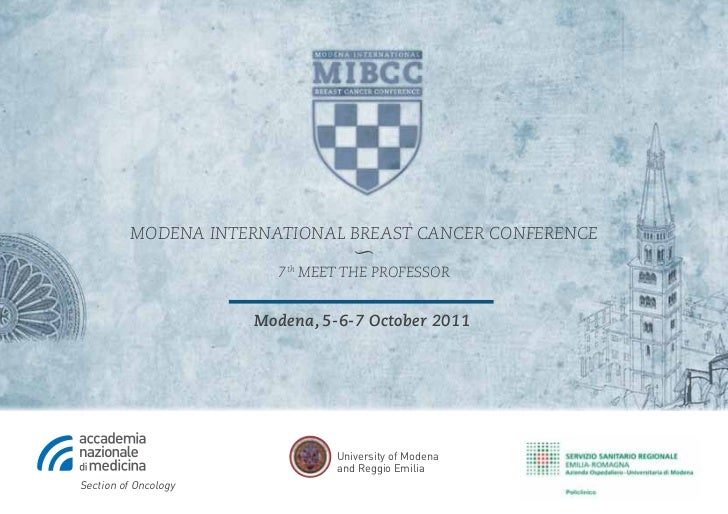 Modena InternatIonal Breast CanCer ConferenCe                                  〜                        7th Meet the profe...