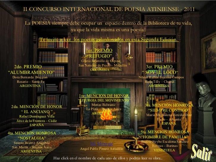 Mi biblioteca   Ganadores Poesia Atiniense 2011 Buenos Aires - Argentina