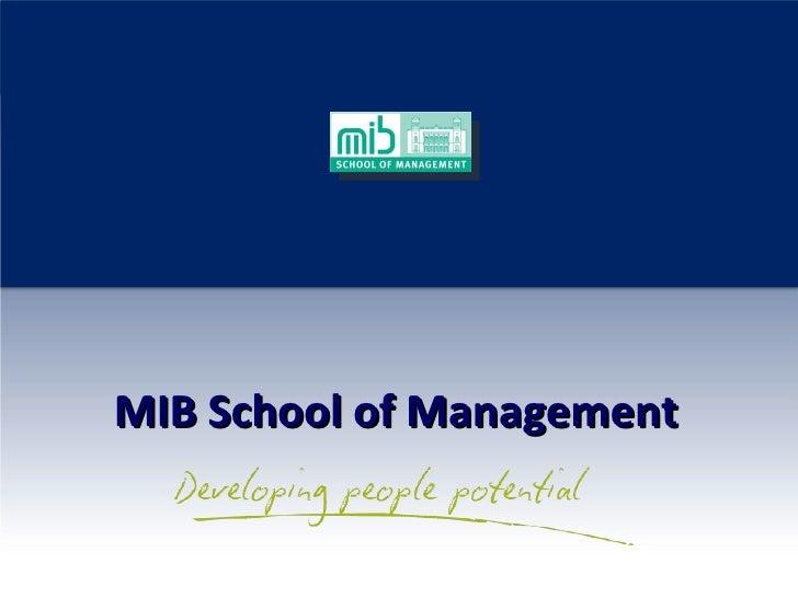MIB School of Management