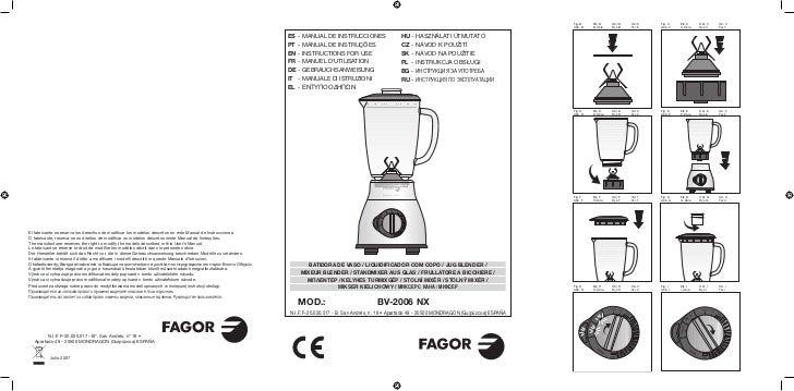 Mi bv 2006 nx - Servicio Tecnico Fagor