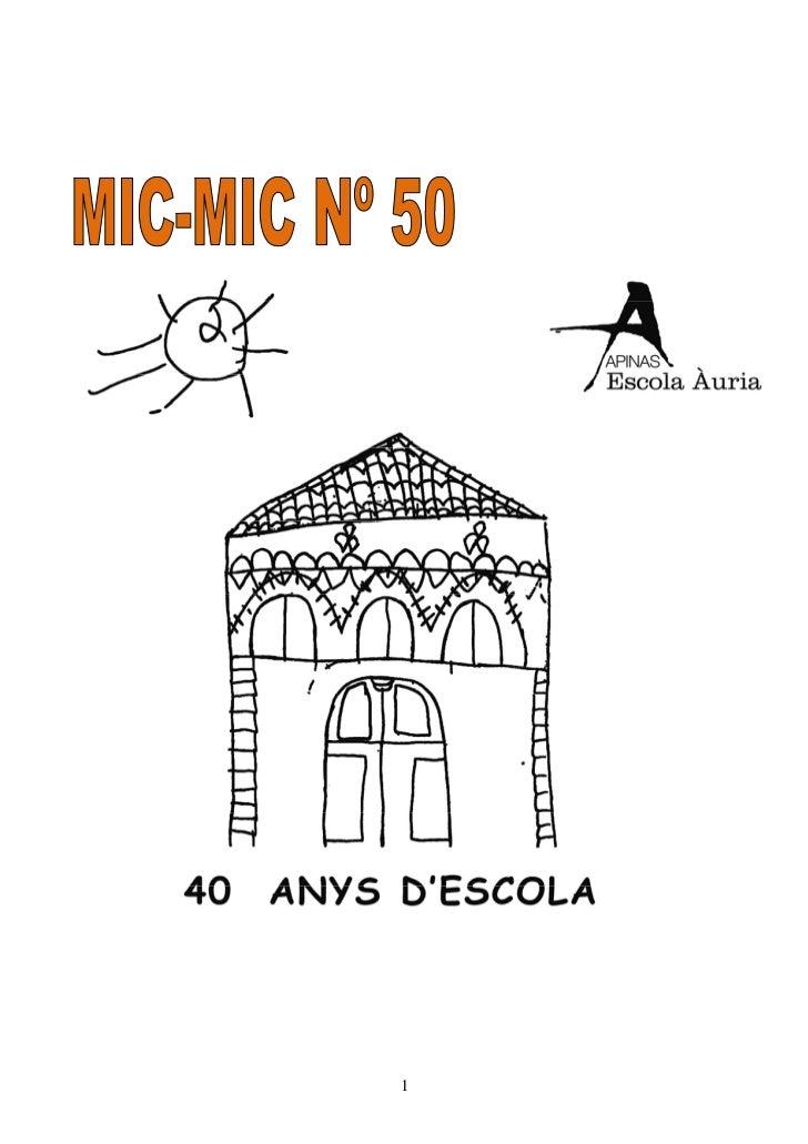 Mic Mic 50 (Gener Març 08)