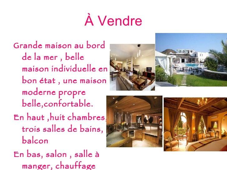 À  Vendre <ul><li>Grande maison au bord de la mer , belle maison individuelle en bon  é tat , une maison moderne propre be...