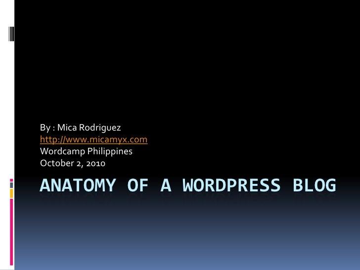 Micaela rodriguez   anatomy of a wordpress blog
