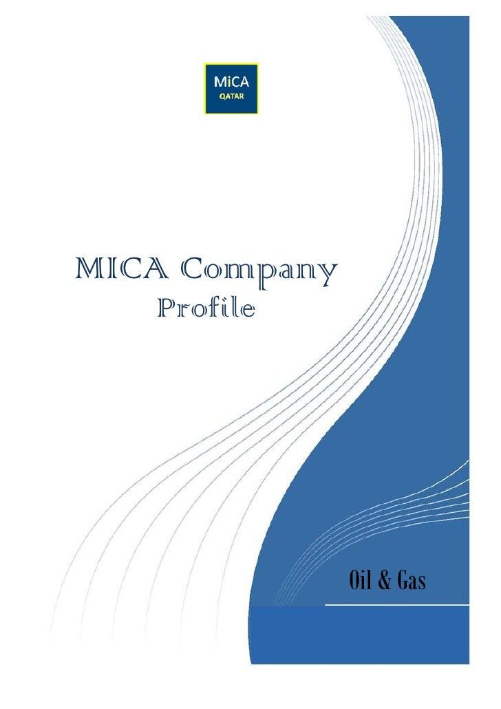 MICA Company   Profile               Oil & Gas