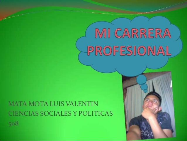 Mi carrera profesional