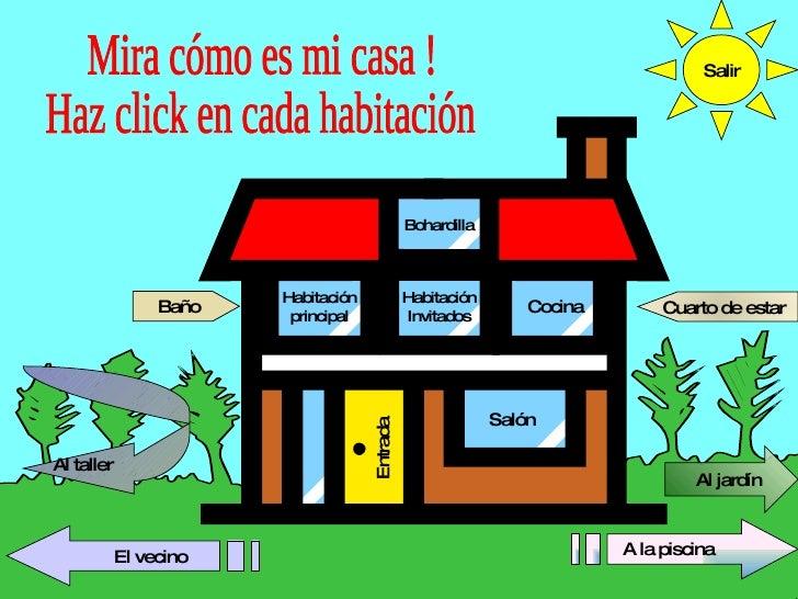 Cocina Habitación principal Salón Entrada Mira cómo es mi casa ! Haz click en cada habitación Habitación Invitados A la pi...
