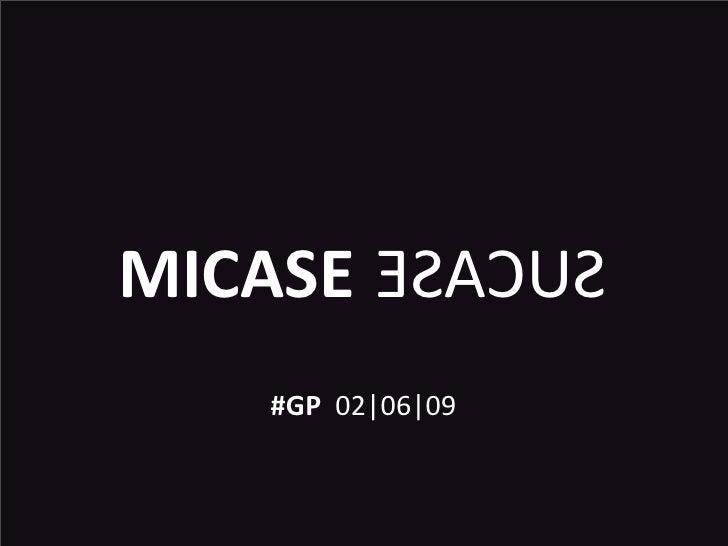 MICASE ESACUS     #GP02|06|09