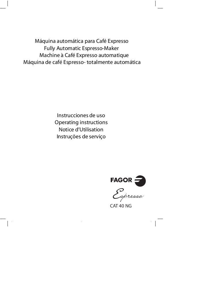 Mi cat 40 ng - Servicio Tecnico Fagor