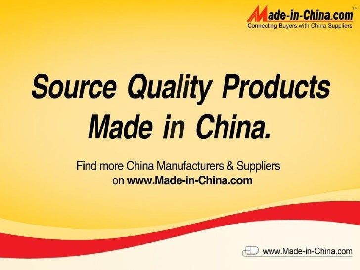 About Made-in-China.com Main Product Overview Buyer Service Introduction