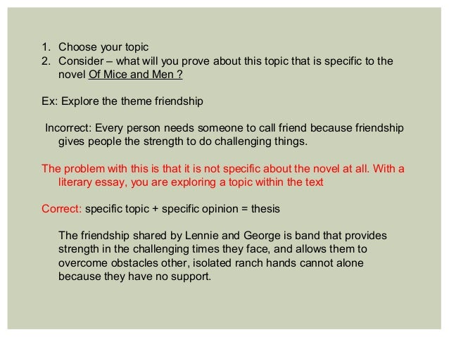 mice and men argument essay Of mice and men george analysis essay beispiel essay how can you write a conclusion to an essay argumentative essay on sex education in schools.