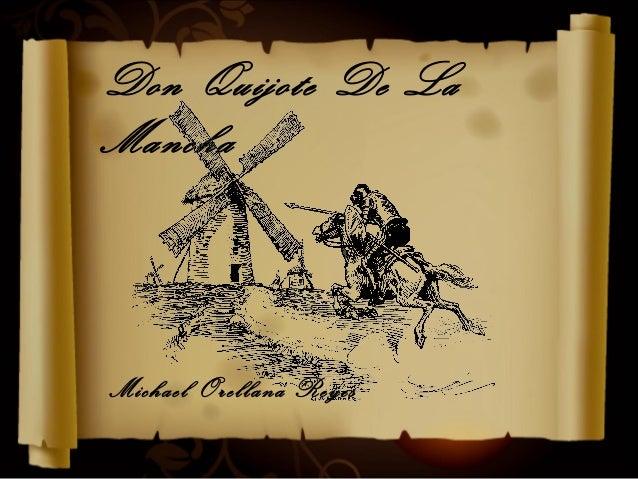 Don Quijote De LaManchaMichael Orellana Reyes