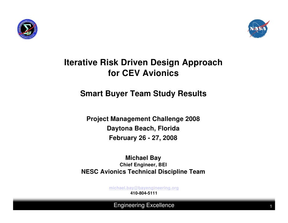 Iterative Risk Driven Design Approach            for CEV Avionics   Smart Buyer Team Study Results     Project Management ...