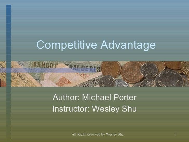 Michael Porter's Competitive Advantage