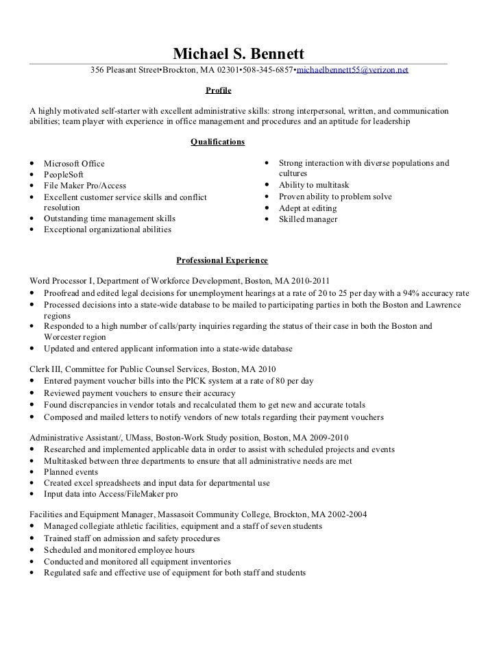 File Clerk Resume - Gse.Bookbinder.Co