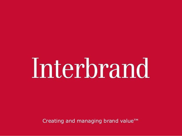 Creating and managing brand value™