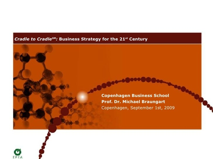 Cradle to Cradle SM :  Business Strategy for the 21 st  Century   Copenhagen Business School Prof. Dr. Michael Braungart C...