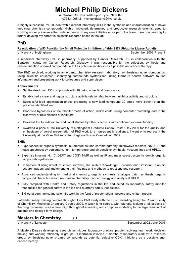chemist resume sample exolgbabogadosco - Sample Chemist Resume