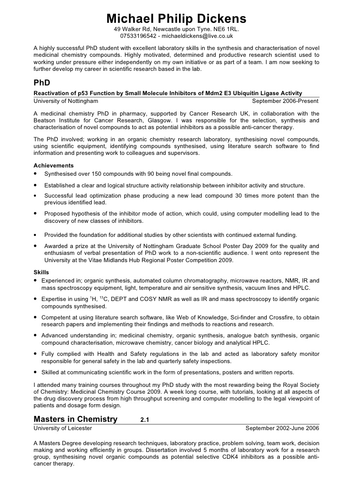 bsc chemistry fresher-resume-sample9 images