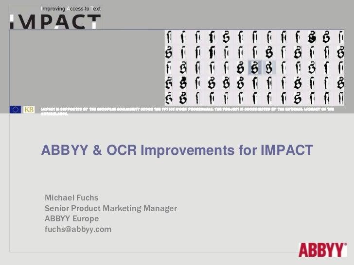 IMPACT Final Conference - Michael Fuchs