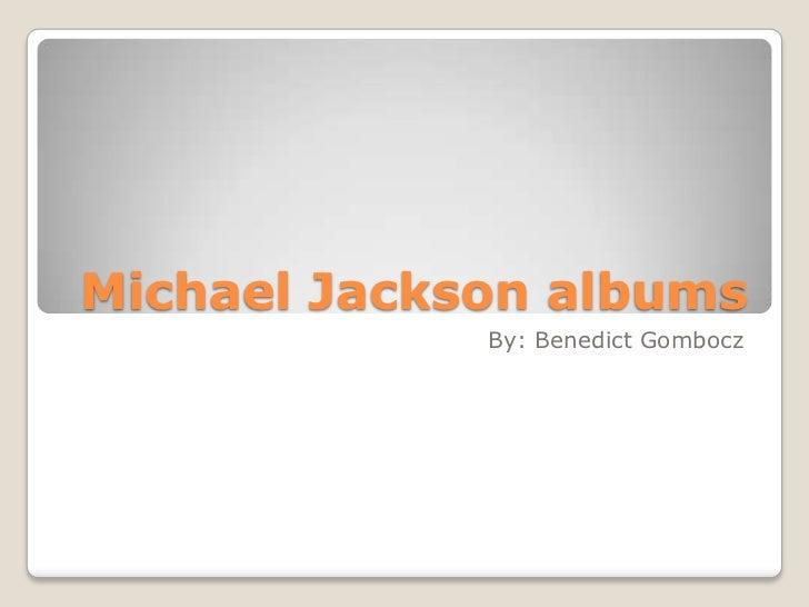 Michael Jackson albums