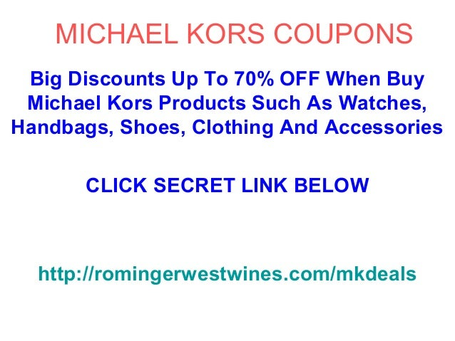 Michael kors coupon code 2018