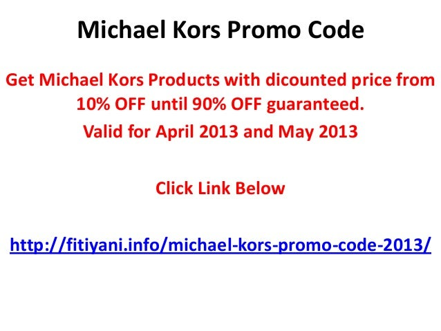Michael kors discount coupons