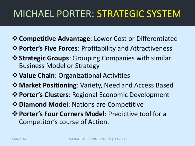 an analysis of the book the competitive advantage of nations by michael porter The competitive advantage of nations user review - not available - book verdict building on his competitive strategy ( lj 10/1/80) and competitive advantage ( lj 3/1/86), which dealt with competition among companies, porter here presents a new theory to explain global success.
