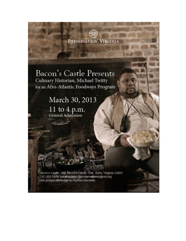 Bacon's Castle's Afro-Culinaria Foodways Program