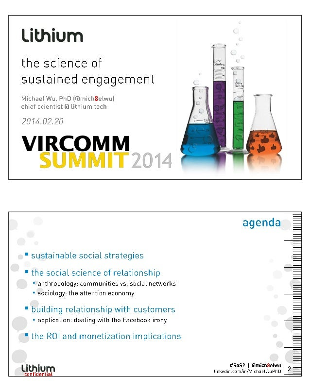Michael Wu at Vircomm14 - 'The Science of Sustained Engagement'