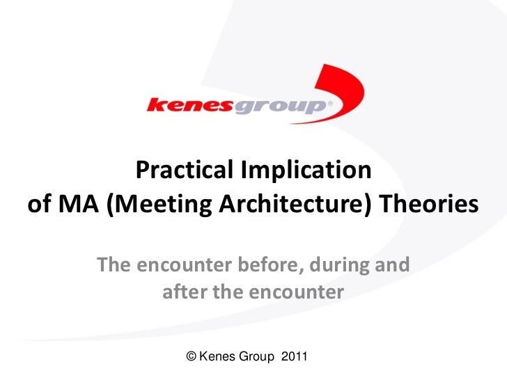 Practical Implicationof MA (Meeting Architecture) Theories     The encounter before, during and           after the encoun...