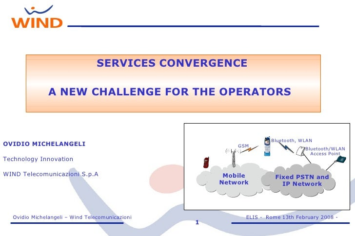 SERVICES CONVERGENCE - A NEW CHALLENGE FOR THE OPERATORS