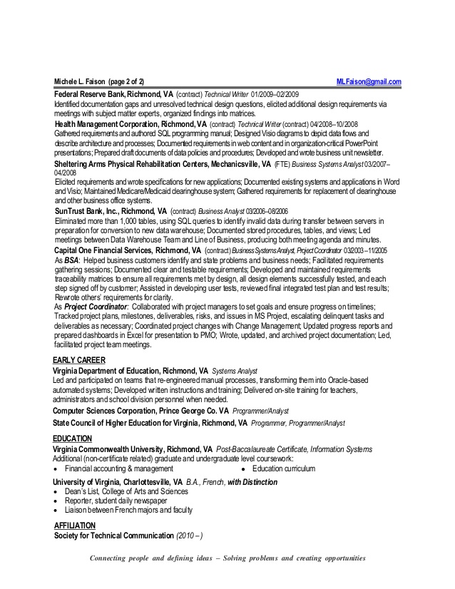 Resume Writing Guidelines - VCU School of Business - Virginia