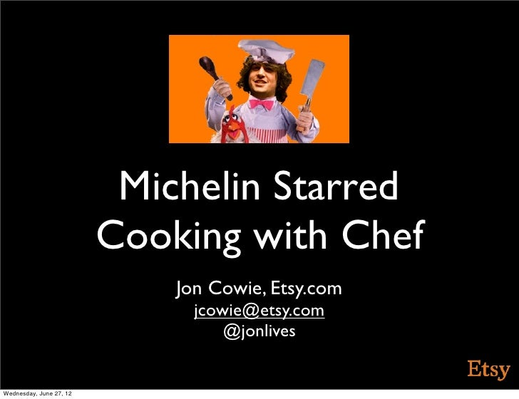 Michelin Starred                         Cooking with Chef                             Jon Cowie, Etsy.com                ...