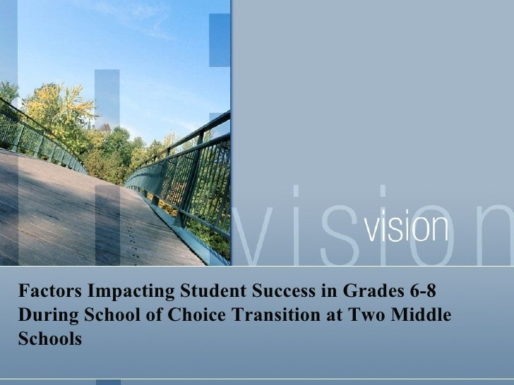 Factors Impacting Student Success in Grades 6-8 During School of Choice Transition at Two Middle Schools