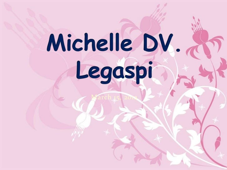 Michelle DV. Legaspi