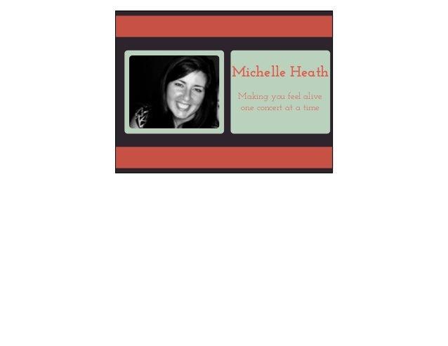 Michelle Heath Visual Resume