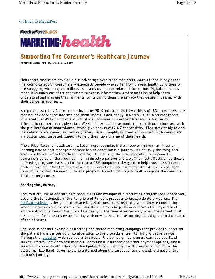 Michelle latta supporting the consumer's healthcare journey
