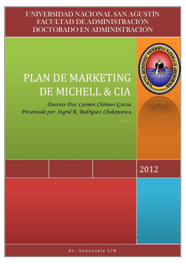 Michell plan de marketing