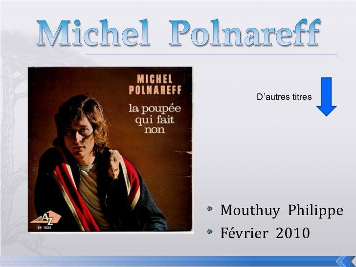 <ul><li>Mouthuy  Philippe </li></ul><ul><li>Février  2010 </li></ul>D'autres titres