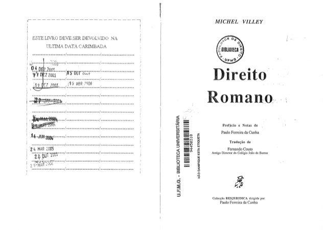 Michel villey (tradução fernando couto)   direito romano