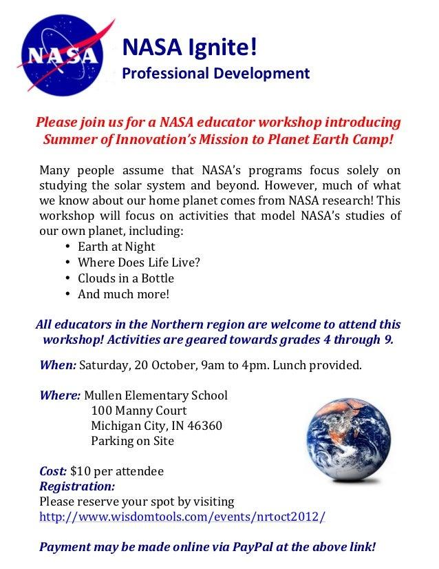 NASA Ignite!                                Professional Development                                      ...