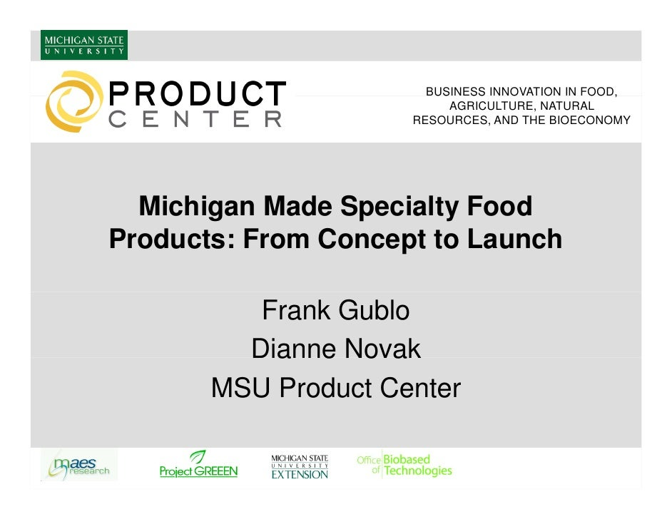 Michigan made specialty food products