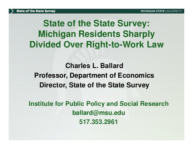 Michigan Evenly Divided over Right-to-Work