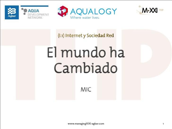 (I.1) Internet y Sociedad RedEl mundo ha Cambiado              MIC      www.managingXXI-agbar.com   1