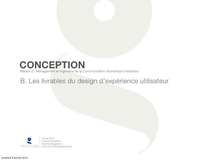 CONCEPTION                 Master 2 : Management et Ingénierie de la Communication Numérique Interactive                  ...
