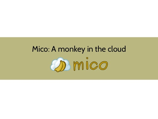 Mico: A monkey in the cloud