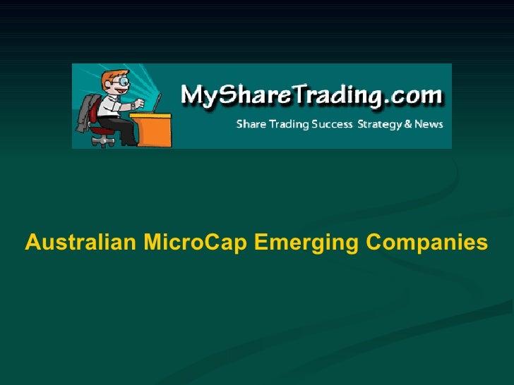 Australian MicroCap Emerging Companies